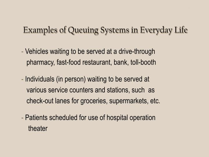 Queuing Systems I