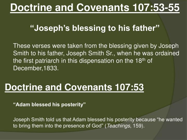 Doctrine and Covenants 107:53-55