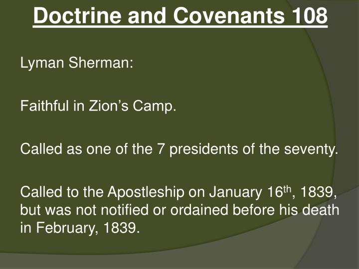 Doctrine and Covenants 108