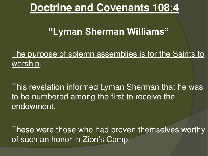 Doctrine and Covenants 108:4