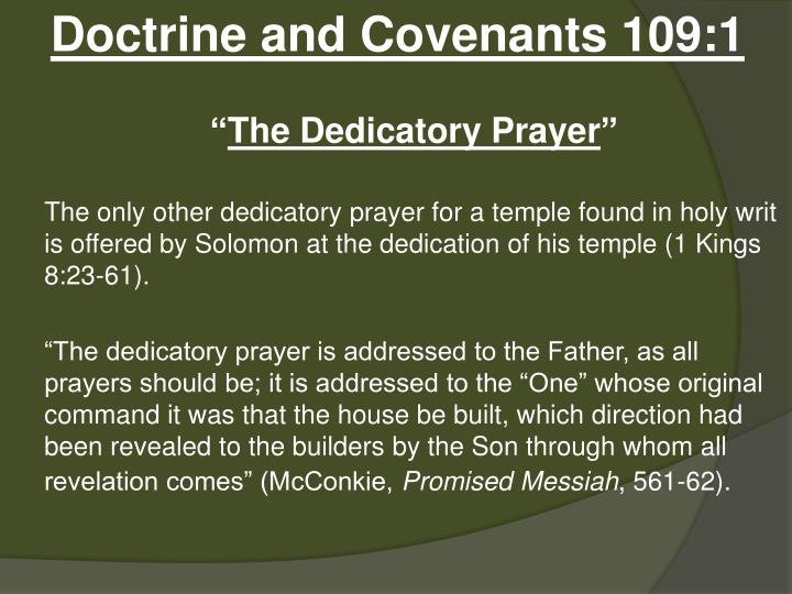 Doctrine and Covenants 109:1