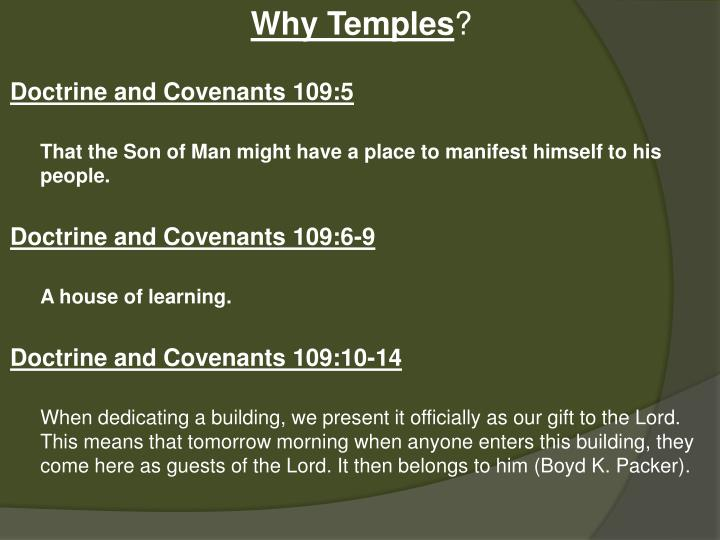 Why Temples