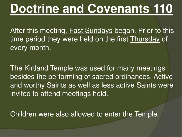 Doctrine and Covenants 110