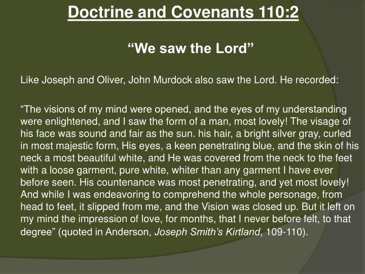 Doctrine and Covenants 110:2
