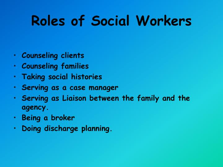 Roles of Social Workers