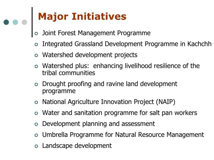 Major Initiatives