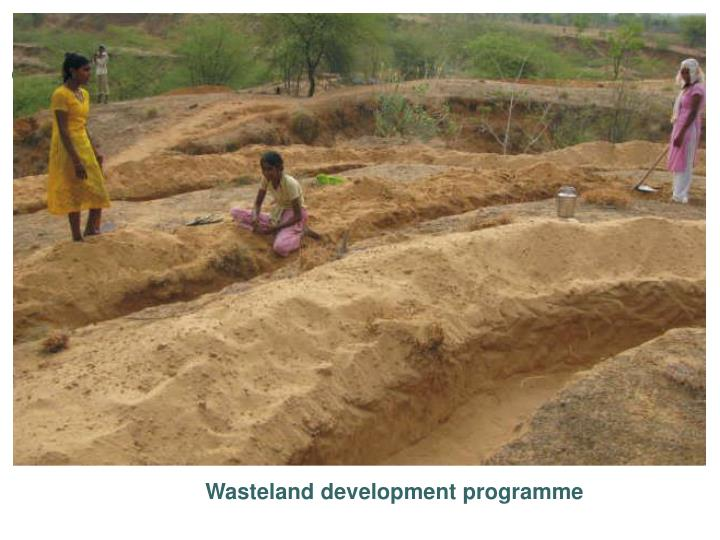 Wasteland development programme