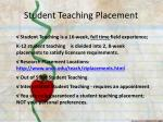 student teaching placement