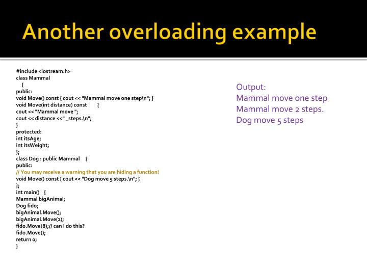 Another overloading example