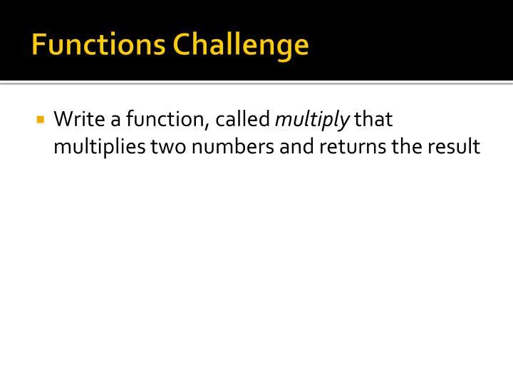 Functions Challenge