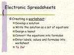 electronic spreadsheets2
