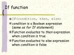 if function