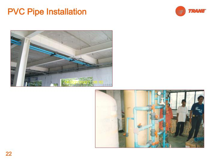 PVC Pipe Installation