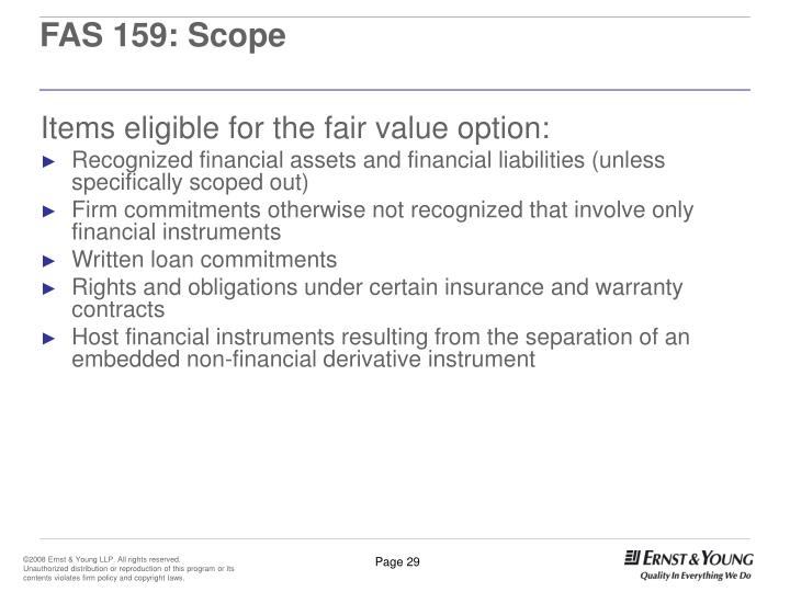 FAS 159: Scope