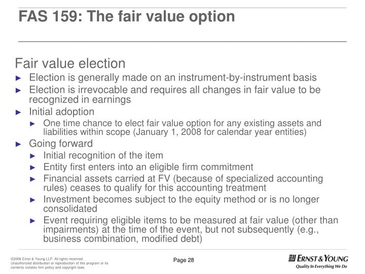 FAS 159: The fair value option