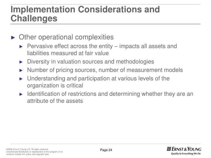 Implementation Considerations and Challenges