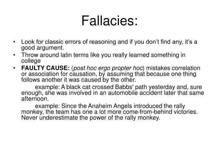 Fallacies: