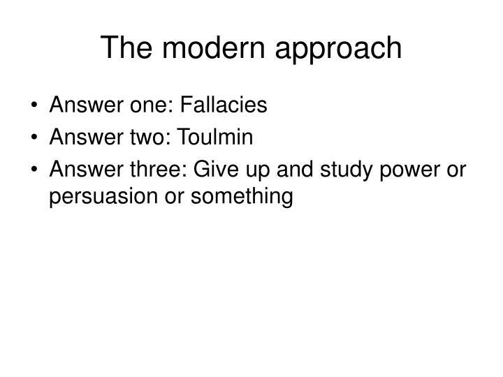 The modern approach