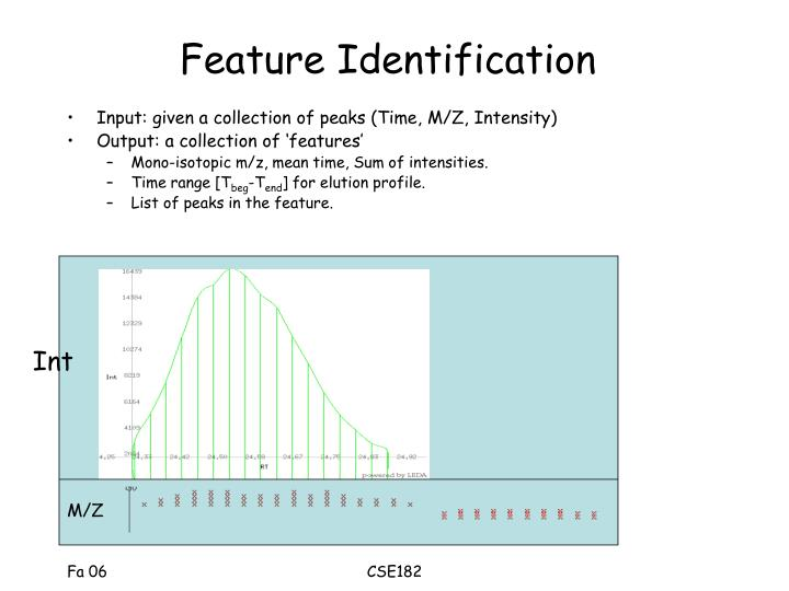 Feature Identification
