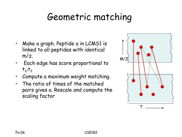 Geometric matching