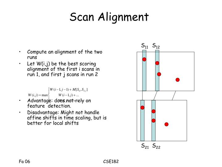 Scan Alignment
