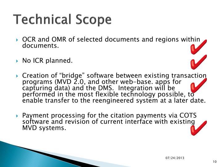 Technical Scope