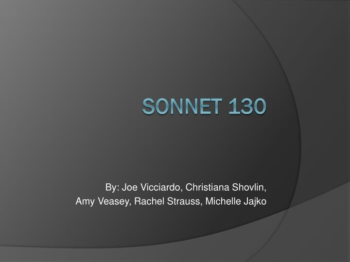 analysis and comparison of 2 sonnets