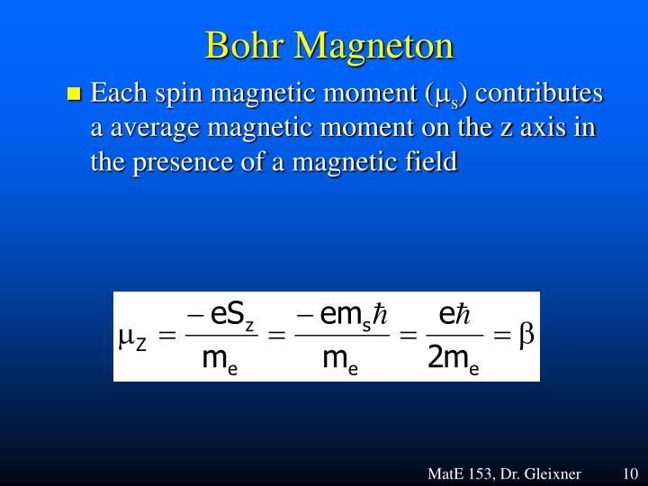 Bohr Magneton