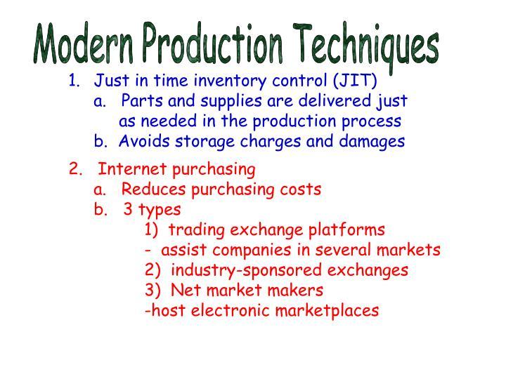 Modern Production Techniques