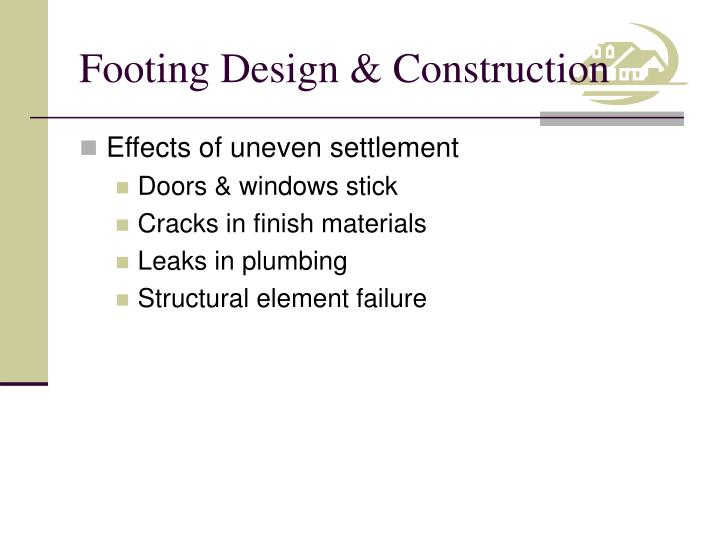 Footing Design & Construction