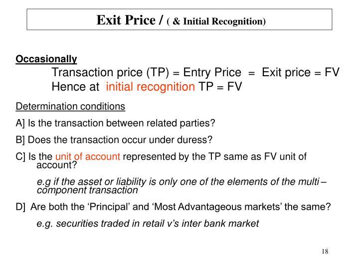 Exit Price /