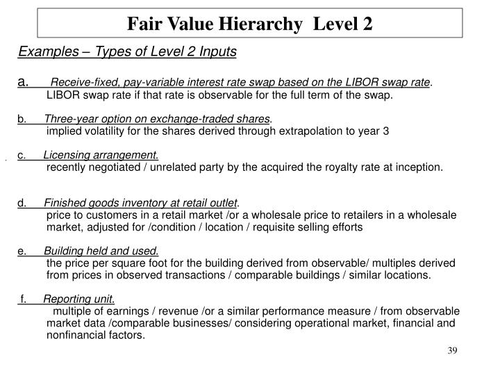 Fair Value Hierarchy  Level 2