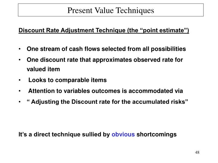 Present Value Techniques
