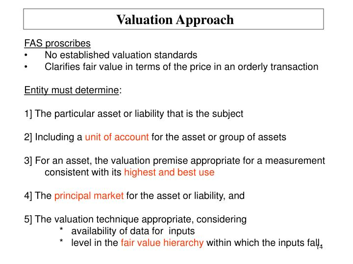 Valuation Approach