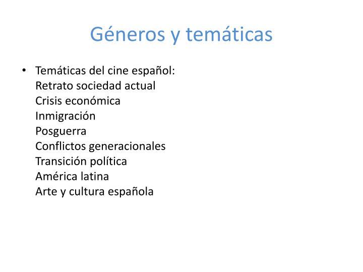 Géneros y temáticas
