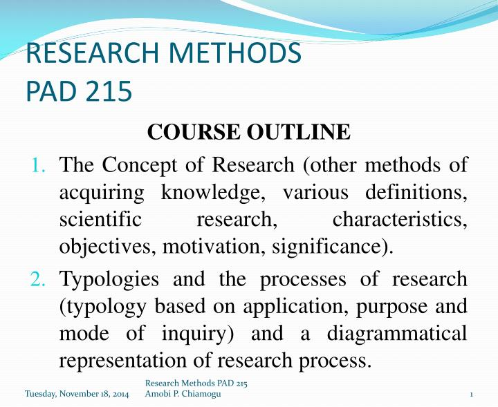 research methods outline