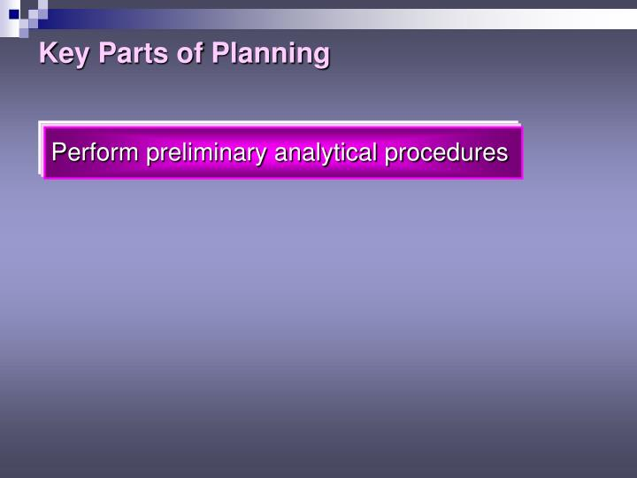 Key Parts of Planning