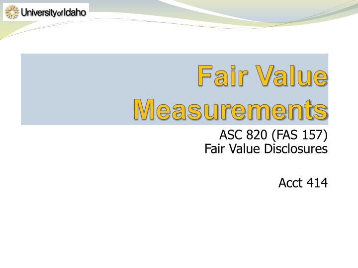 Fair value measurements
