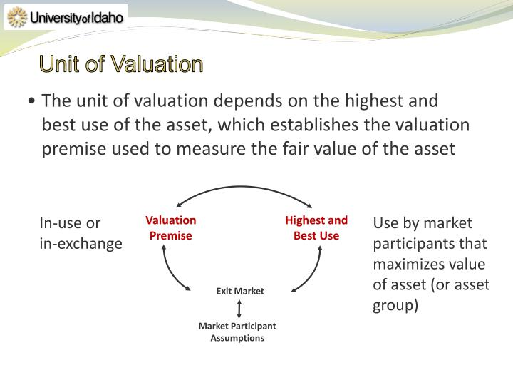 Unit of Valuation
