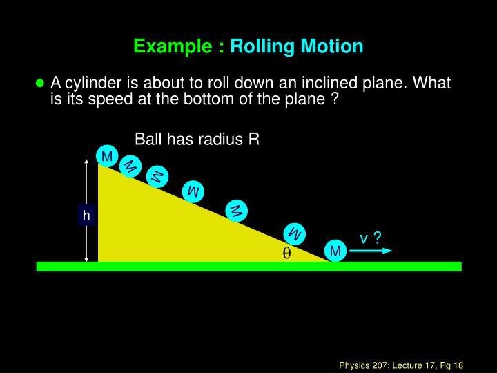 Ball has radius R