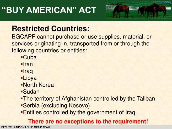 Buy american act essay
