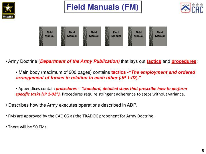 Field Manuals (FM)