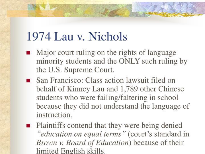 1974 Lau v. Nichols