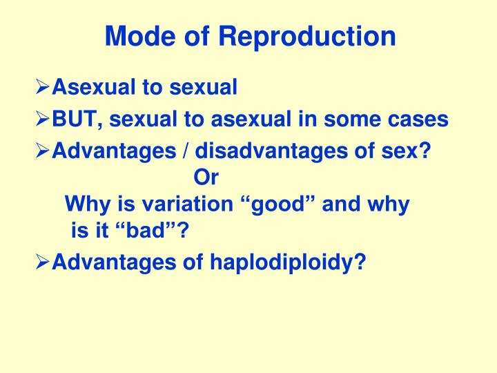 Mode of Reproduction