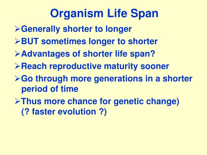 Organism Life Span