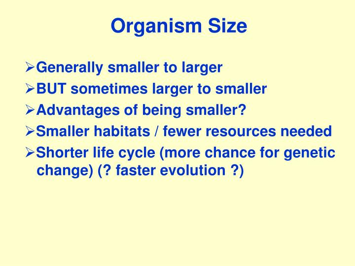 Organism Size