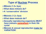 type of nuclear process