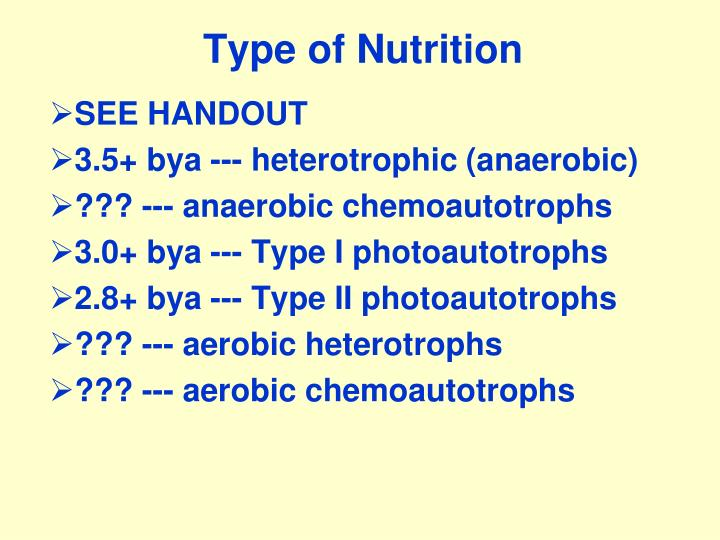 Type of Nutrition