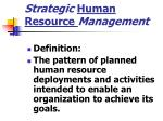strategic human resource management1