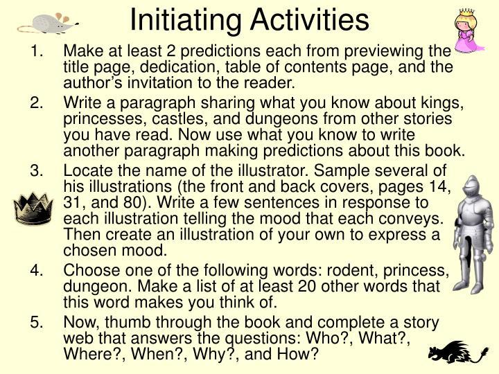 Initiating Activities